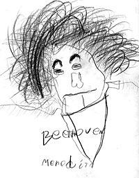 Children's portraits of Beethoven